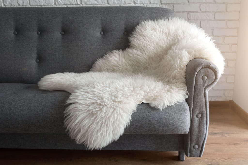 clean a sheepskin rug
